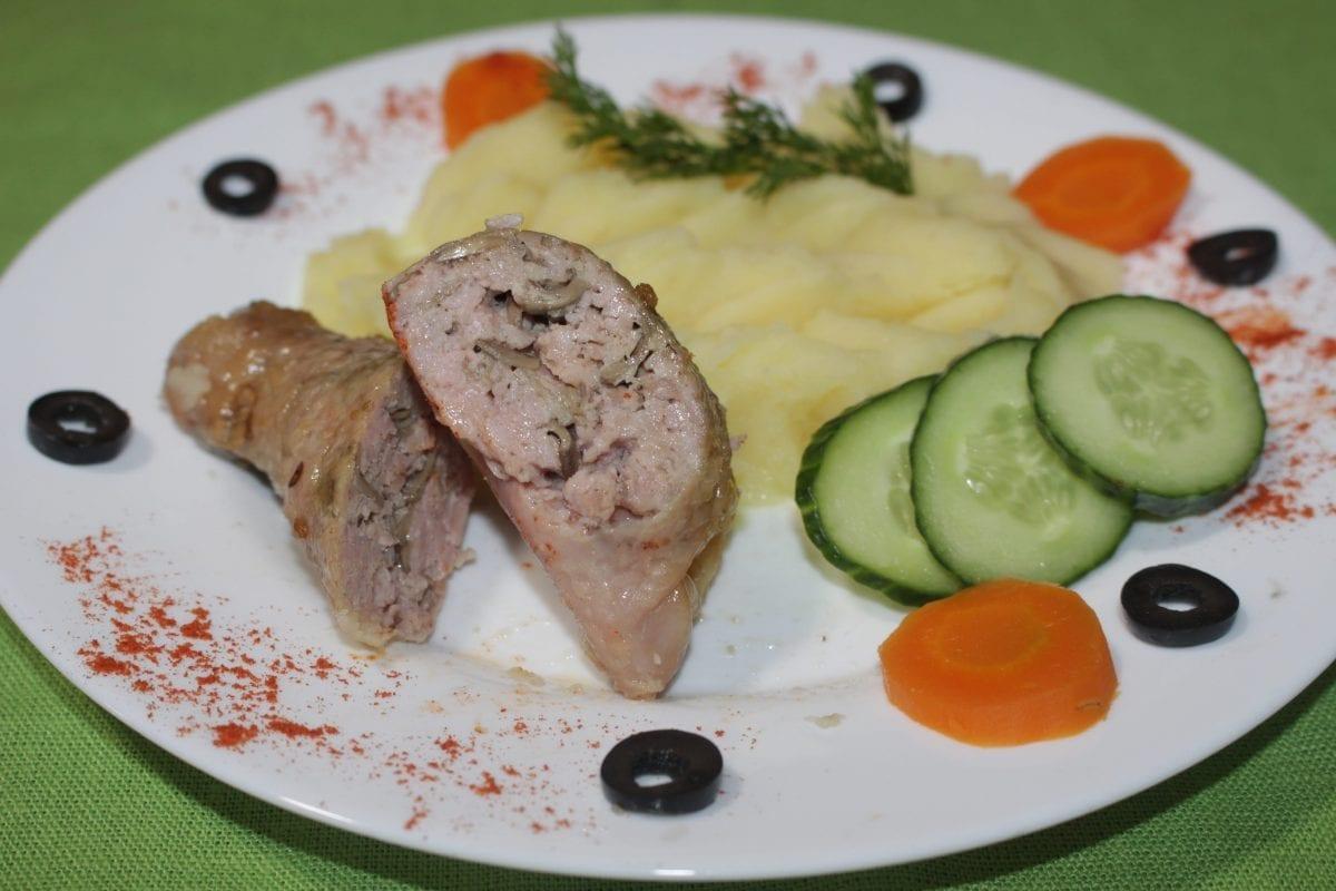 IMG 3459 1200x800 - Колбаски  жареные  с картофельным пюре
