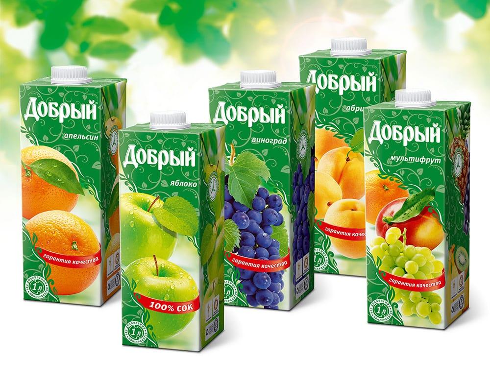 """Sok Dobryj 1 l - Сок """"Добрый"""""""