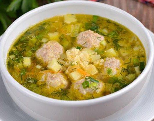 Sup pshennyj s frikadelkami e1605868618946 - Суп пшенный с фрикадельками
