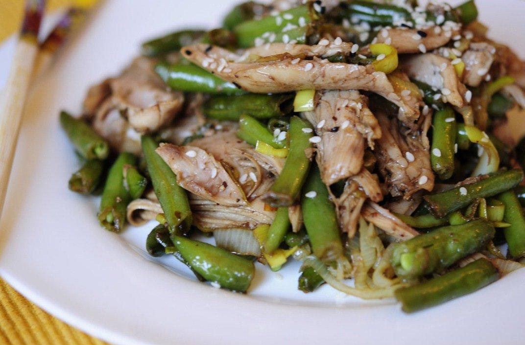 Salat so struchkovoj fasolyu i myasom - Салат со стручковой фасолью и мясом