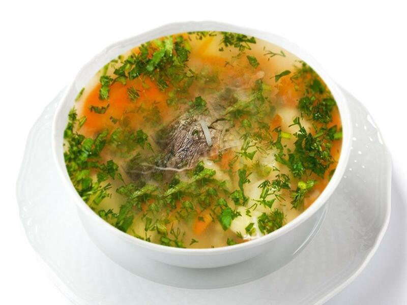 Sup kartofelnyj s rybnoj konservoj - Суп картофельный с рыбой