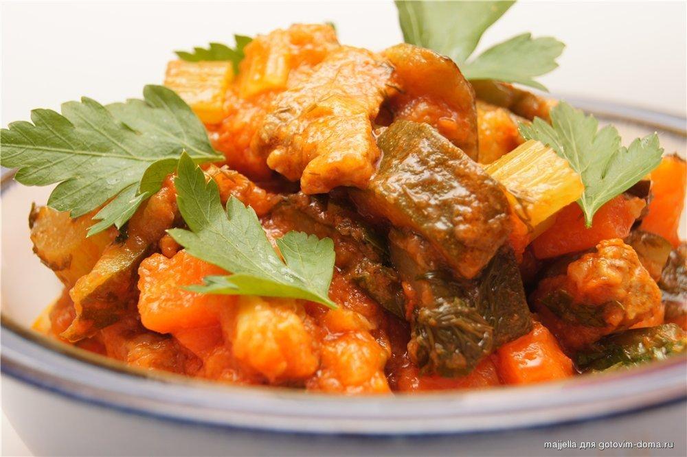 Ovoshhi tushenye - Рагу овощное