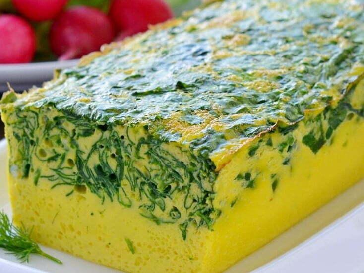 omlet so shpinatom 2 - Омлет со шпинатом